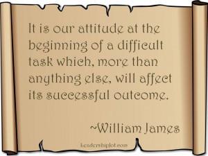 William James on attitude and success