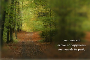 ... at happiness one travels its path venerable wuling path to peace