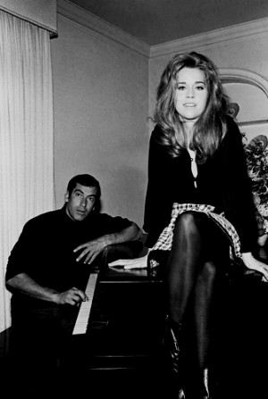 title jane fonda with roger vadim at the piano size price 17 in x 22