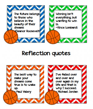 Included in the pack is a series of reflective quotes that students ...