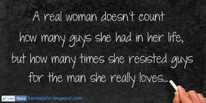 real woman doesnt count how many