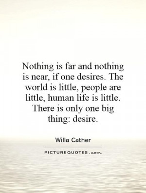 world is little people are little human life is little There is