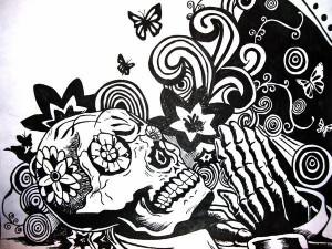 Tarjetas de Dia De Los Muertos