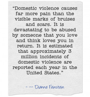 Domestic Violence causes far more pain that the visible bruises and ...