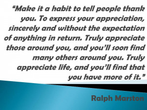 Ralph Marston quote about gratitude