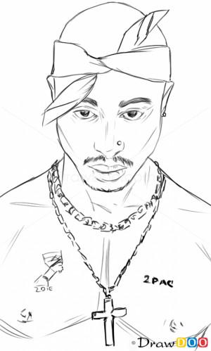How Draw Tupac Shakur...