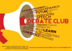 Debate Club Poster for Alexander Bain School Mexic o