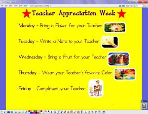 Teacher Appreciation Week Teacher appreciation week