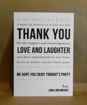 Photo Gallery of the Wedding thank you card ideas using wedding photos