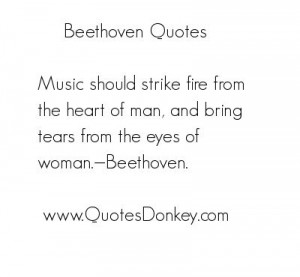quote by Beethoven in which I believe the description is perfect for ...