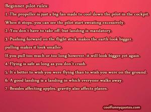 Funny Pilot Quotes Pilot rules