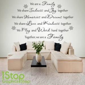 Home > QUOTE DESIGNS > TOGETHER WE ARE FAMILY WALL STICKER QUOTE ...