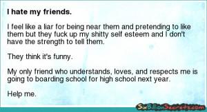 Friends - I hate my friends.