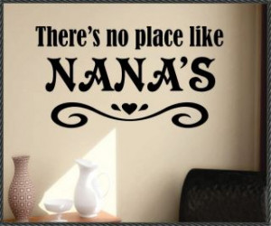 Vinyl Wall Lettering Quotes No Place Like Nanas Choice Size Color