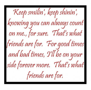 Dionne Warwick - That's What Friends Are For - song lyrics, songs ...