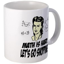 Math Is Hard. Let's Go Shopping! Mug for