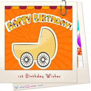 1st Birthday Wishes and Cute Baby Birthday Messages