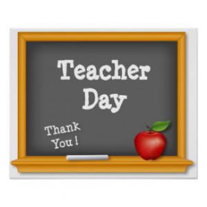 Teacher Day Poster, Thank You ! Blackboard, Apple Poster