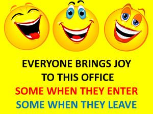 Everyong Brings Joy to This Office Funny Cartoon by bamafun
