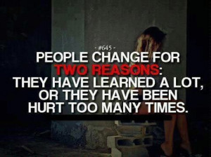 People change.
