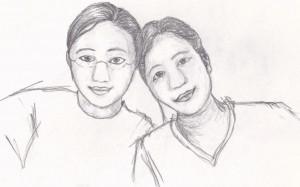 pencil Sketch Of best Friend