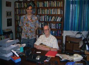 José Luis Cordeiro with Sir Arthur C. Clarke in SriLanka