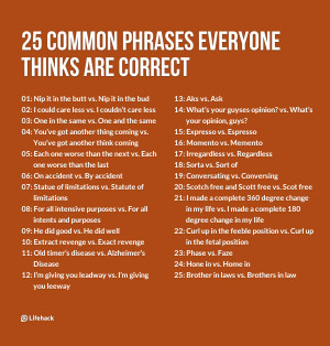 25 Common Phrases Everyone Thinks Are Correct export
