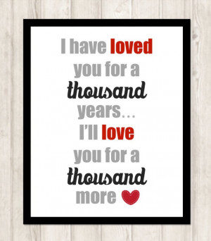 Thousand Years Lyrics by Christina Perri by CoCoStineDesigns, $15.00