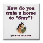 Corny Joke Horse Tile Coaster #1
