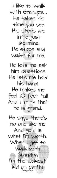 This is so sweet! Grandpa Poem