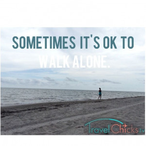 Beach picture, travel quote