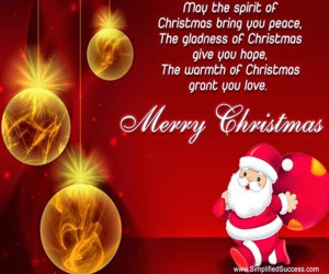 Christmas is love in action. Every time we love, Every time we give ...
