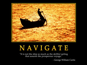 Motivational wallpaper on Navigate : It is not ship so much as the ...