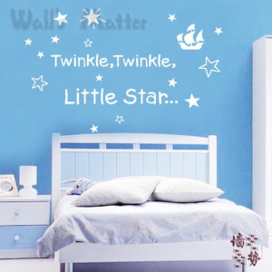 TWINKLE TWINKLE LITTLE STAR baby sleeping quotes removable vinyl ...