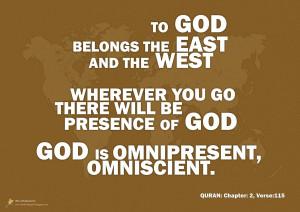 Allah (s.w.t.) is Omnipresent & Omniscient