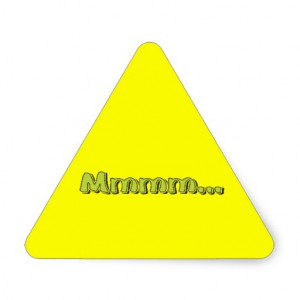 Mmmm ... Exclamation Words Sayings Quotes Triangle Sticker