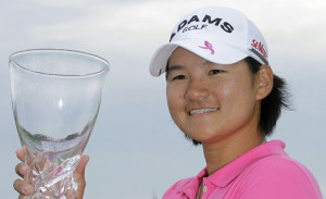Yani Tseng with the trophy at