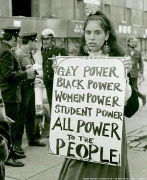 Gay power black power women power student power all power to the ...
