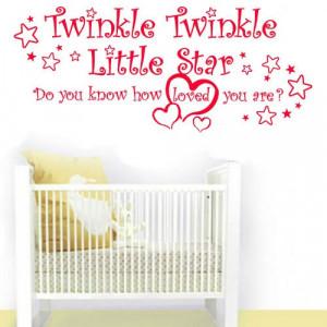 Twinkle Twinkle Little Star Nursery Wall Art Vinyl Lettering Quote ...