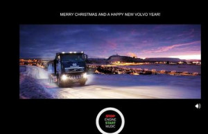 trucking christmas cards