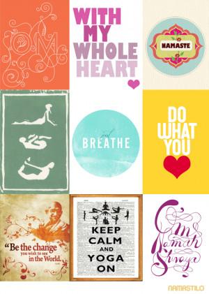 yoga quotes art print poster
