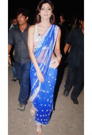 shilpa_shetty_blue_net_saree_buy_shilpa_shetty_bollywood_sarees_online ...