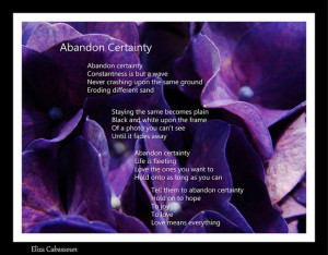 ... Certainty, a poem inspired by God Emperor of Dune by Frank Herbert