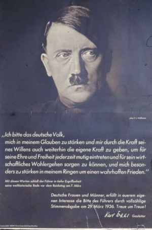 Nazi propaganda posters: Before the war began