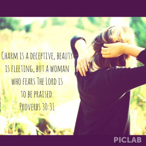 Bible verse about women of The Lord.