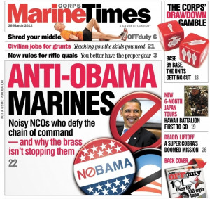 Marines Against Obama? Cover of Marine Times Leads With Story on ...