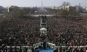Barack Obama delivers his inaugural address after being sworn in as ...