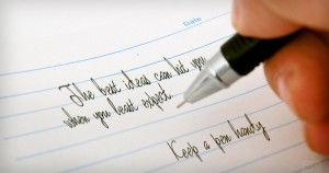 The best ideas can hit you when you least expect. Keep a pen handy