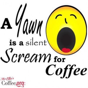 Funny Coffee #Quote | A Yawn is a silent Scream for #Coffee