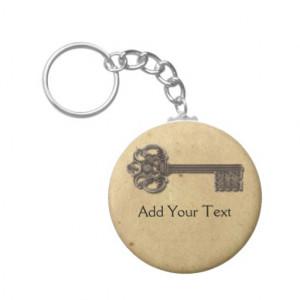 Antique Skeleton Key Keychain